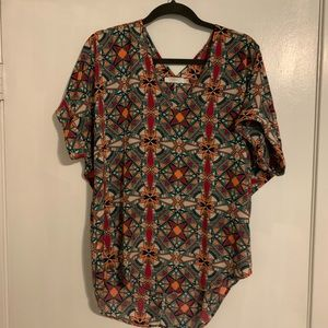Colorful blouse from Francesca's// large